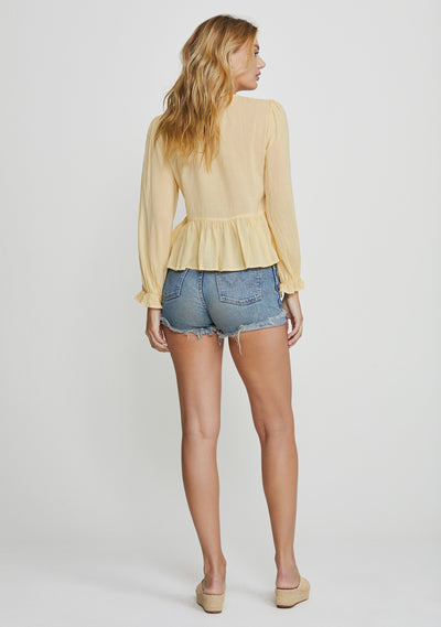 Margot Wren Blouse Lemon - Auguste The Label