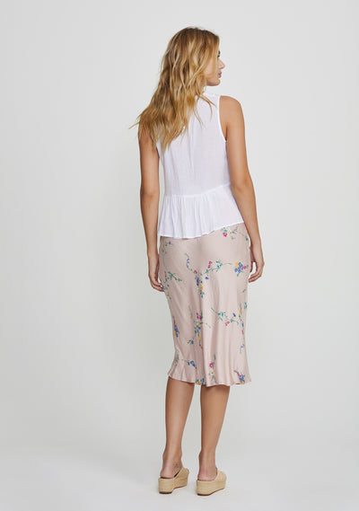 Dawn Spencer Midi Skirt Blush - Auguste The Label
