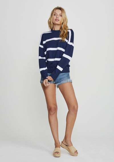 Beaumont Knit Sweater Navy - Auguste The Label