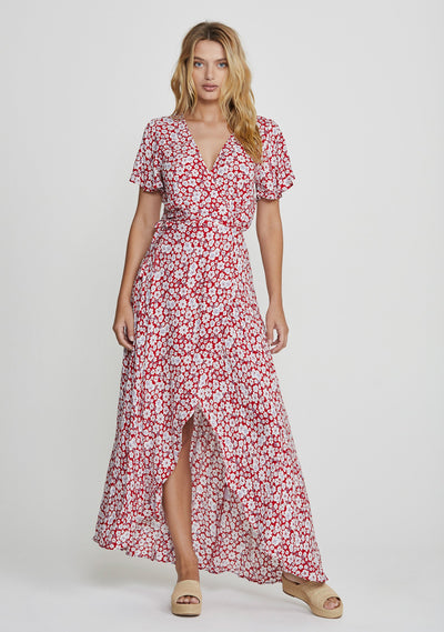 Mila Muse Maxi Dress Red - Auguste The Label