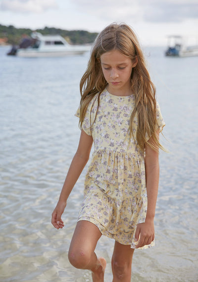 Olsen Salsa Mini Dress Lemon - Little Auguste - Auguste The Label