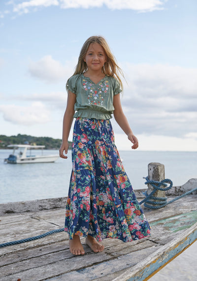 Victoria Little Miss Maxi Skirt Navy - Little Auguste - Auguste The Label