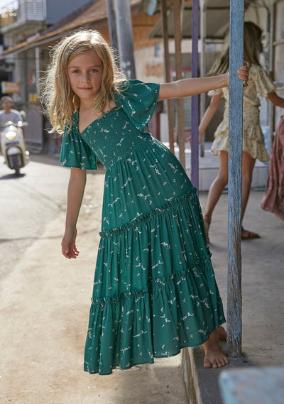 Clementine Penelope Maxi Dress Emerald - Little Auguste - Auguste The Label
