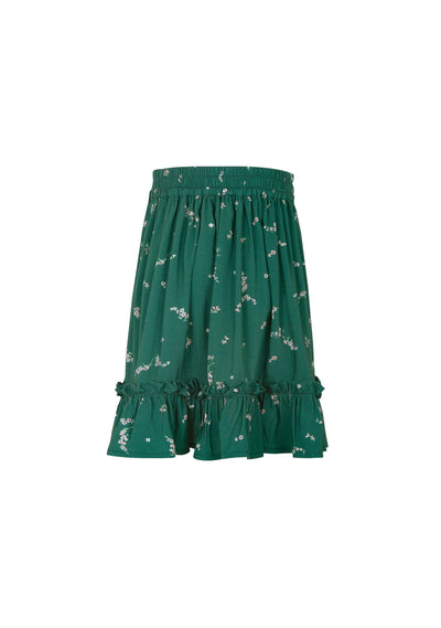 Clementine Frill Hem Mini Skirt Emerald - Little Auguste - Auguste The Label