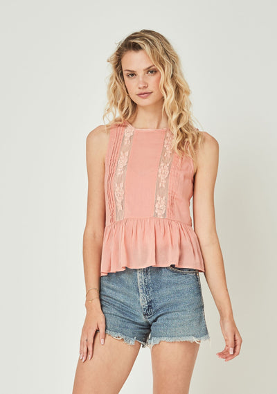 Margot Wren Camisole Peach - Auguste The Label