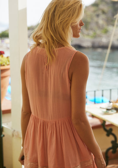 Margot Wren Sleeveless Mini Dress Peach - Auguste The Label