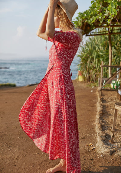 River Della Maxi Dress Red - Auguste The Label