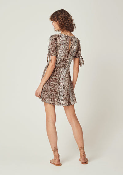 Nico Pia Mini Dress Natural - Auguste The Label
