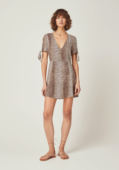 Nala Cole Mini Dress Tan - Auguste The Label