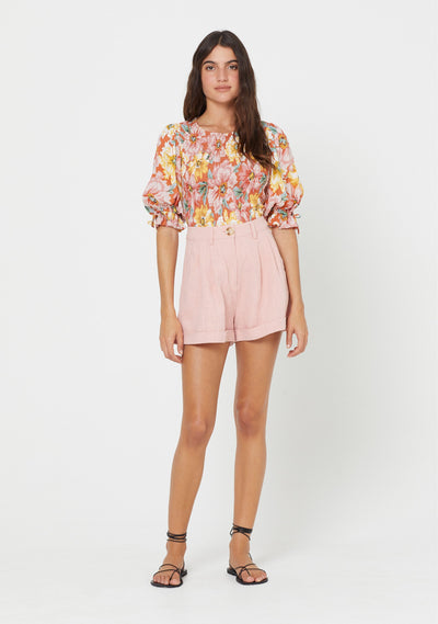 Sunset Lila Blouse Blush - Auguste The Label