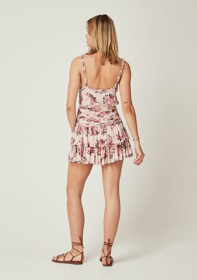 Roselle Dylan Mini Skirt Blush - Auguste The Label