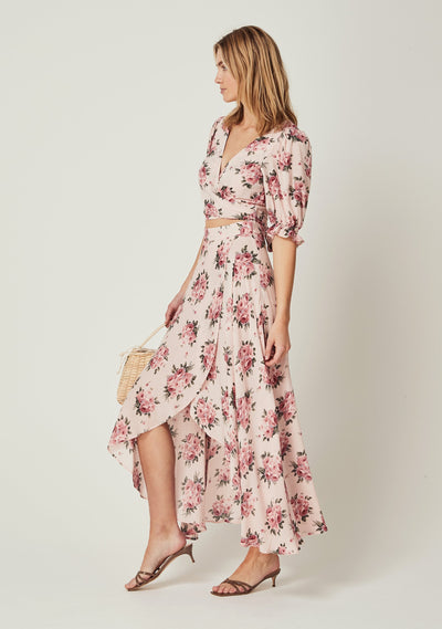 Roselle Isobel Maxi Dress Blush - Auguste The Label