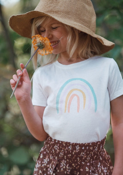Over The Rainbow Tee White - Little Auguste