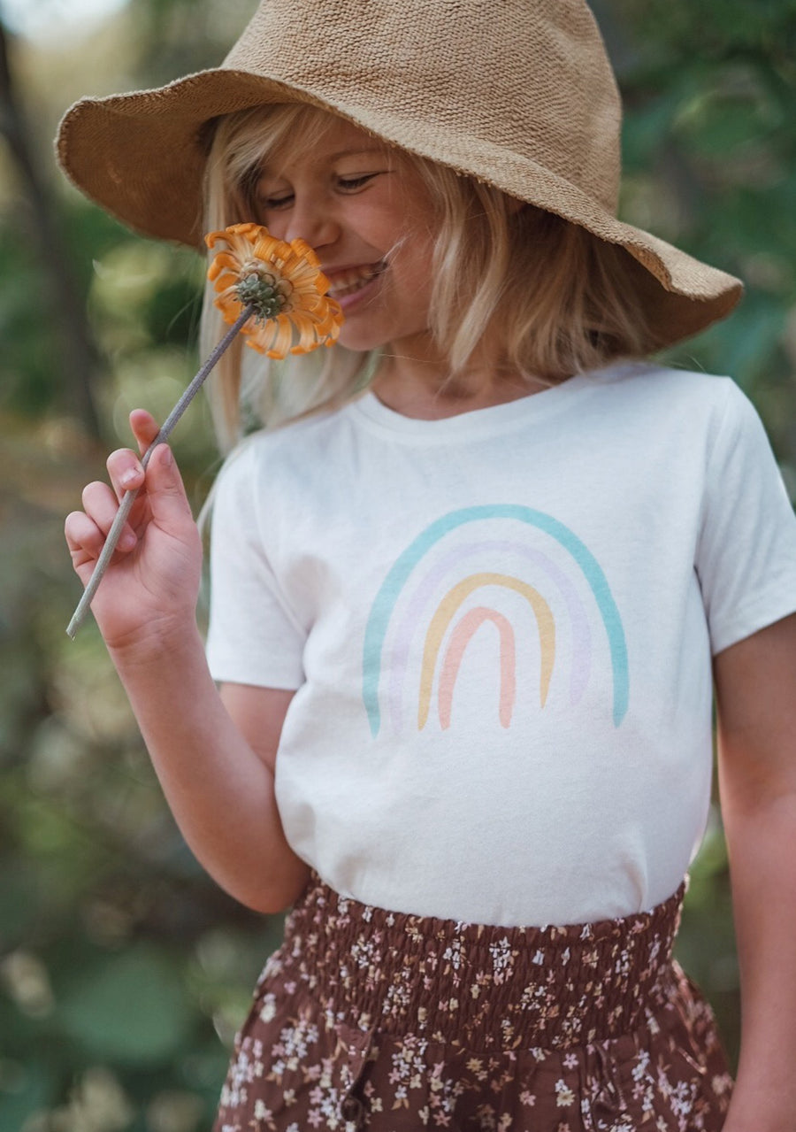 The Rainbow Tee White - Little Auguster