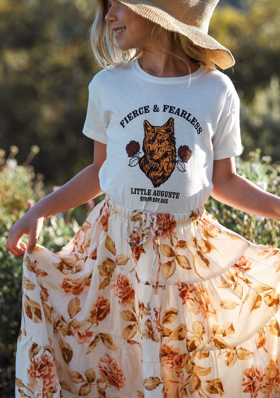 Fierce And Fearless Tee White - Little Auguste