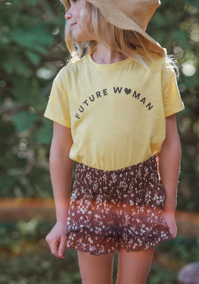 Future Woman Tee Lemon - Little Auguste