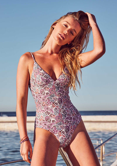 Paisley Rider One Piece Blush - Auguste The Label