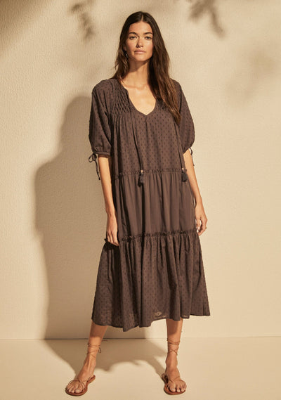 Scott Midi Dress Charcoal - Auguste The Label