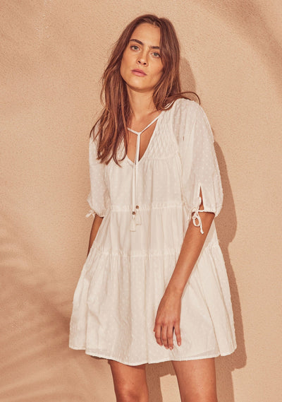 Scott Mini Dress Off White - Auguste The Label