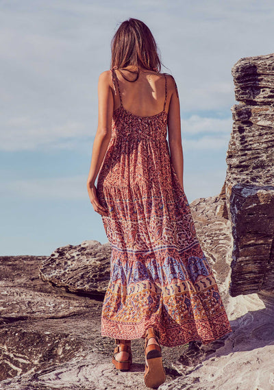Bohemian Clemence Maxi Dress Rose - Auguste The Label