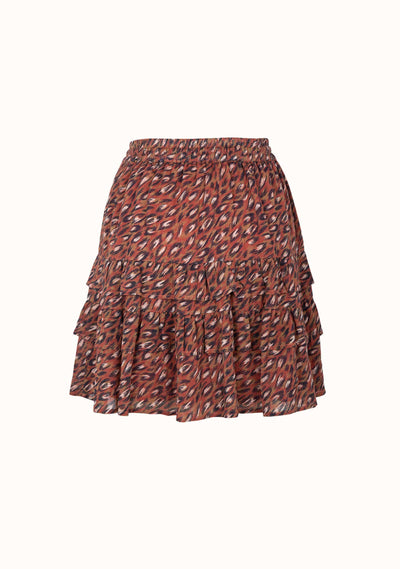 Isaac Ellie Mini Skirt Wine - Auguste The Label