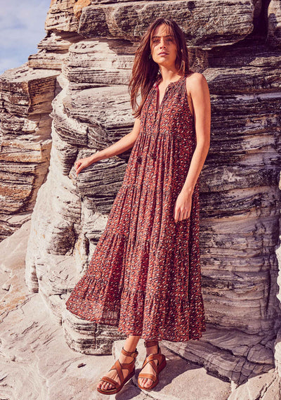 Isaac Luca Maxi Dress Wine - Auguste The Label