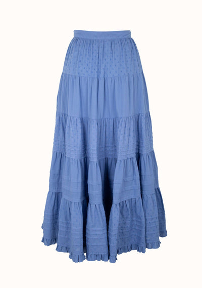 Scott Midi Skirt Cornflower Blue - Auguste The Label