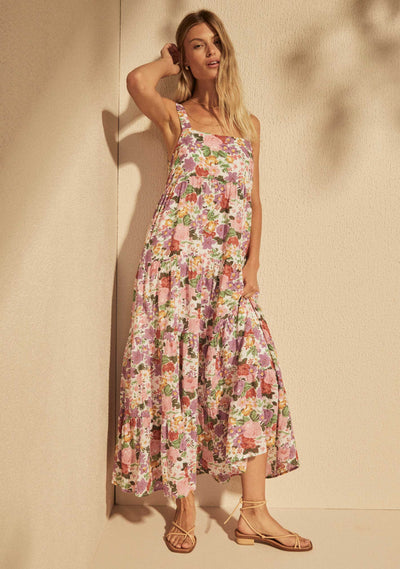 Camila Mabel Maxi Dress Off White - Auguste The Label