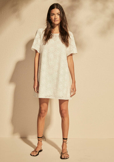 Aaliyah Mini Dress White - Auguste The Label