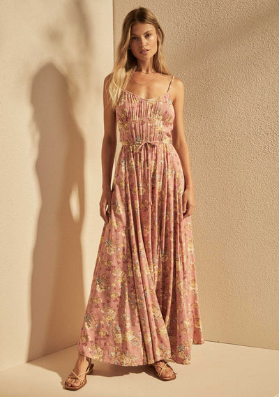 Lillian Anita Maxi Dress Dusty Pink - Auguste The Label