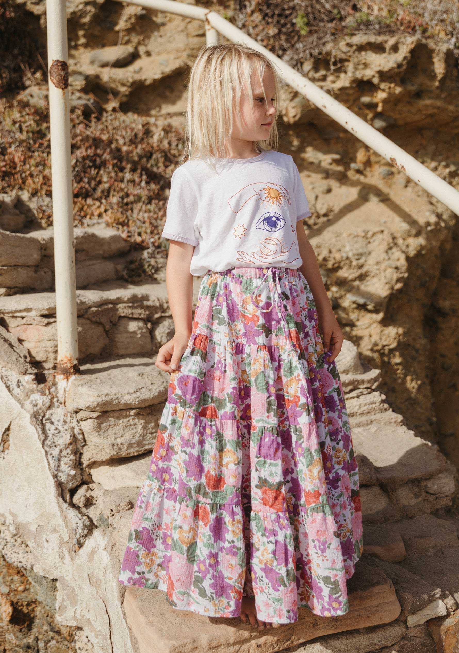 Camila Little Miss Maxi Skirt Off White