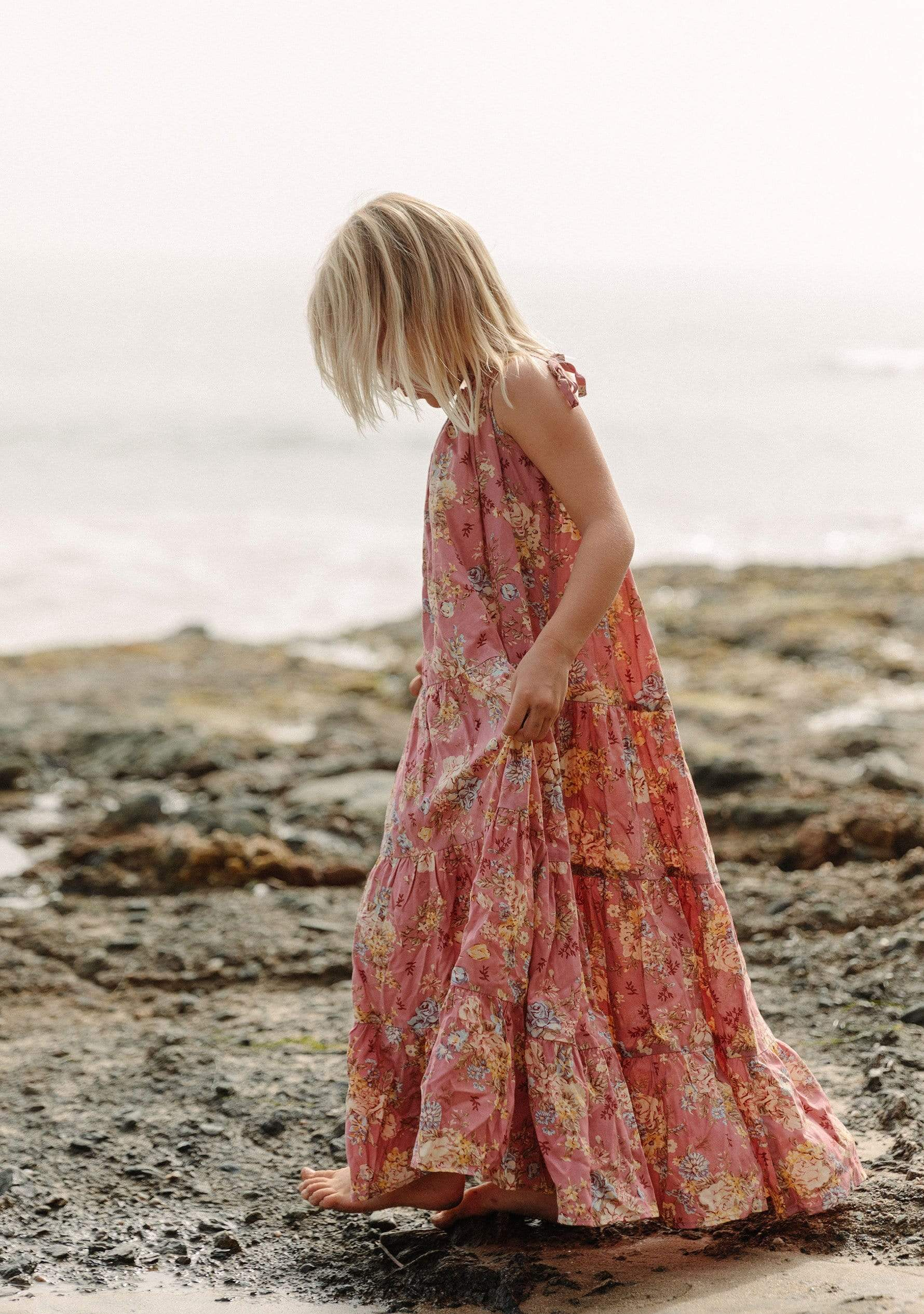 Lillian Peaches Maxi Dress Dusty Pink