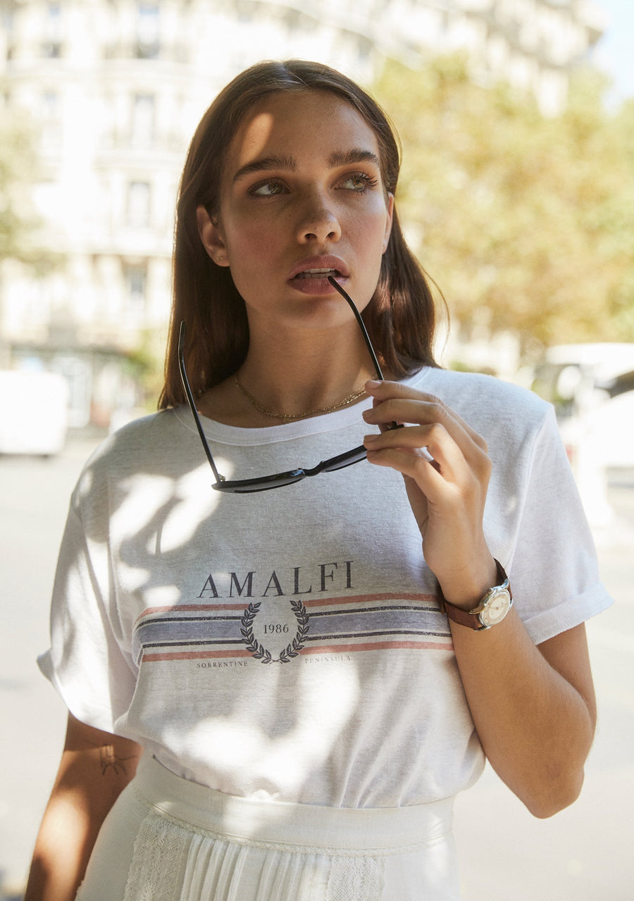 Amalfi Tee White - Auguste The Label