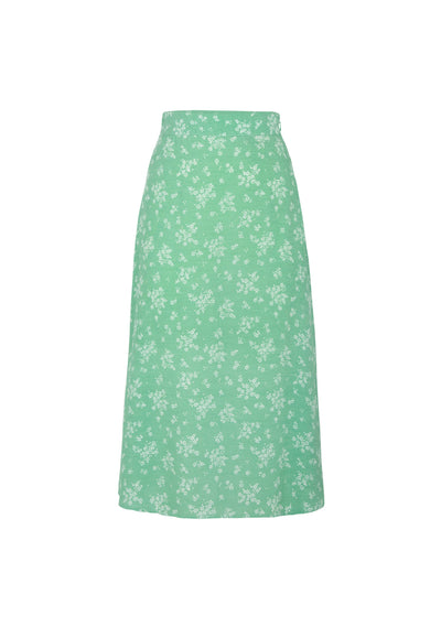 Maeve Marcel Midi Skirt Vibrant Green - Auguste The Label