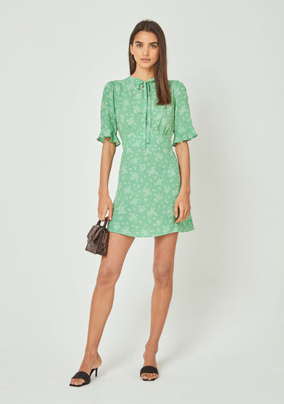 Maeve Mimi Mini Dress Vibrant Green - Auguste The Label