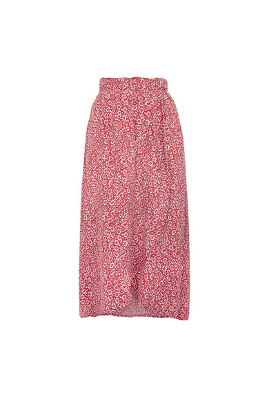Marlowe Tess Midi Skirt Red - Auguste The Label