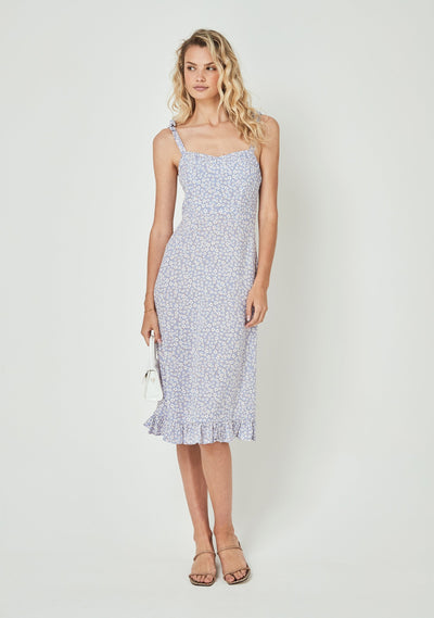 Dean Gia Midi Dress Baby Blue - Auguste The Label