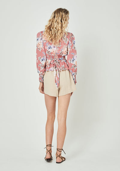Pascal Sonnet Blouse Rose - Auguste The Label