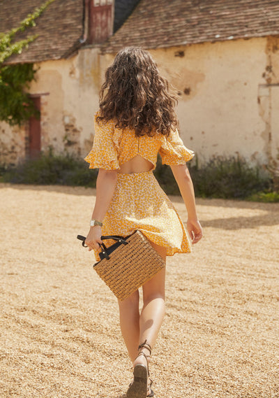 Dean Elodie Mini Dress Yellow - Auguste The Label