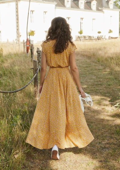 Dean Sierra Wrap Maxi Dress Yellow - Auguste The Label
