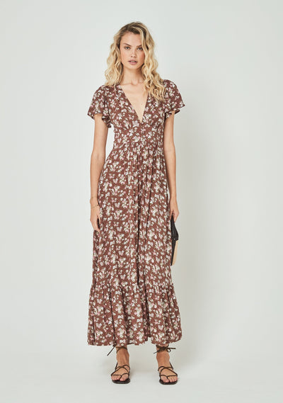 Matilda Sunday Maxi Dress Brown - Auguste The Label