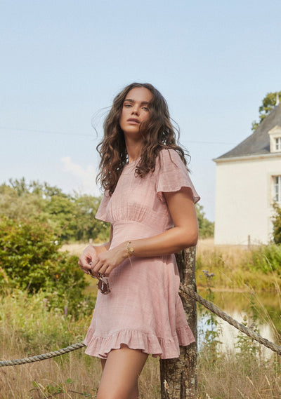 Pia Mini Dress Dusty Pink - Auguste The Label