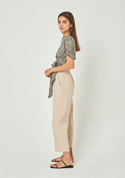 Gemima Hayes Blouse Khaki - Auguste The Label