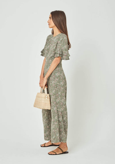 Gemima Elodie Jumpsuit Khaki - Auguste The Label