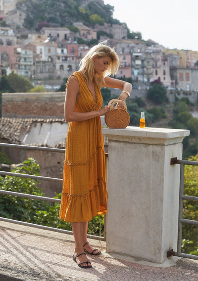 Farrah Midi Dress Amber - Auguste The Label