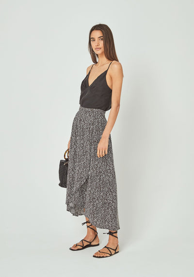Marlowe Tess Midi Skirt Charcoal - Auguste The Label