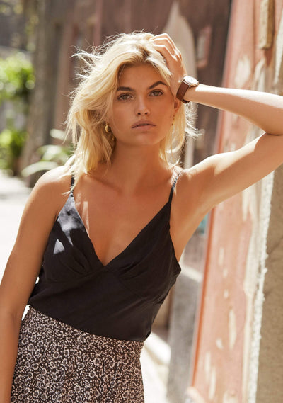 Keepsake Cami Charcoal - Auguste The Label
