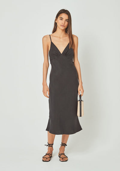 Keepsake Midi Dress Charcoal - Auguste The Label