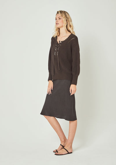 Camino Knit Charcoal - Auguste The Label