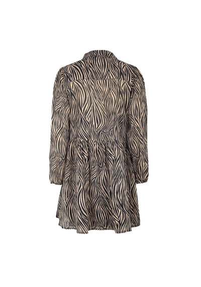 Zebra Zara Shirt Dress Black - Auguste The Label